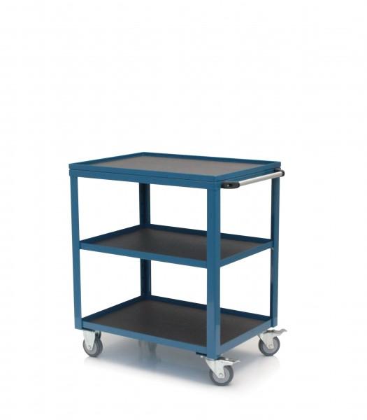 Tischregalwagen, azurblau