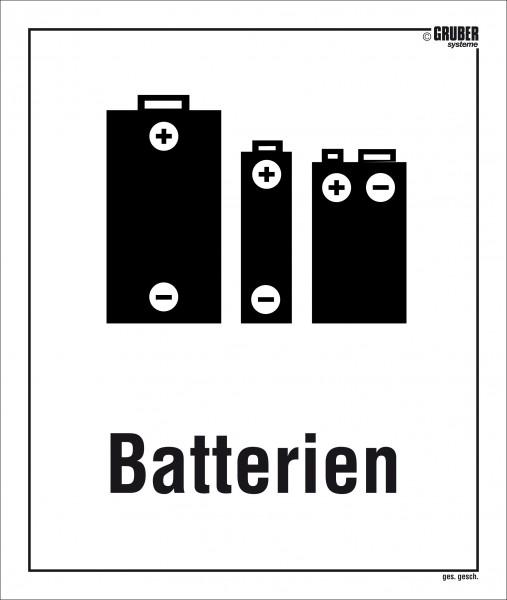 Selbstklebe-Etikett Batterien