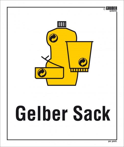 Selbstklebe-Etikett Gelber Sack