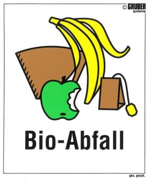 Selbstklebe-Etikett Bio-Abfall