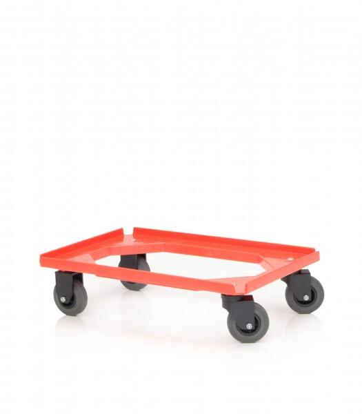 Rollwagen für Normbehälter, rot